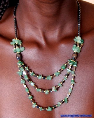 Collier pierres naturelles